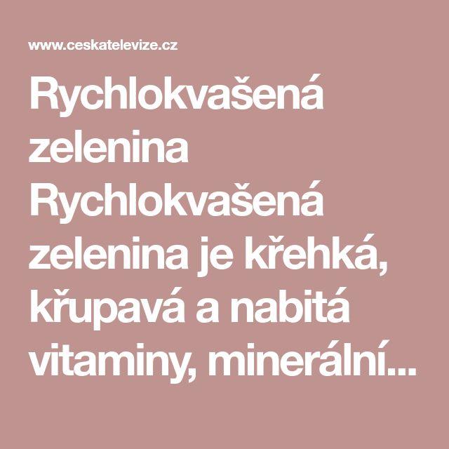 Rychlokvašená zelenina Rychlokvašená zelenina je křehká, křupavá anabitá vitaminy, minerálními látkami aenzymy. Právě ona vám (malá miska denně či obden) zajistí přísun potřebných látek především vzimních měsících až do jara, kdy zdroje čerstvé tuzemské zeleniny jsou omezené (dovážená zelenina je dražší ačasto bez chuti).  Nezapomínejme proto na obyčejné hlávkové zelí akořenovou zeleninu, červenou řepu, ředkev, které jsou pro nakládání nejvhodnější. Mléčné kvašení, které během 3 až 5…
