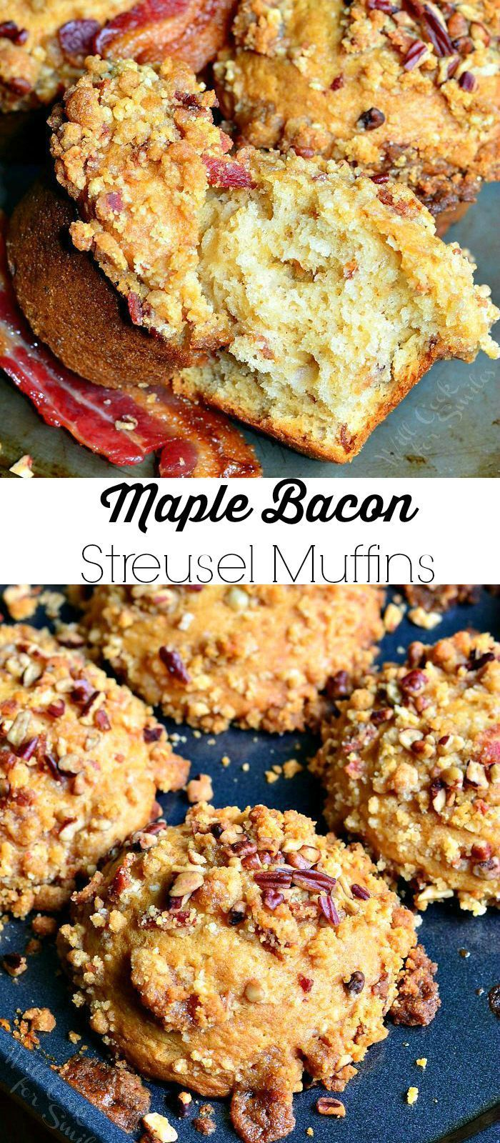 Maple Bacon Streusel Muffins   from willcookforsmiles.com