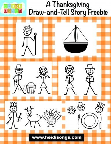 A Thanksgiving Draw-and-Tell Story Freebie