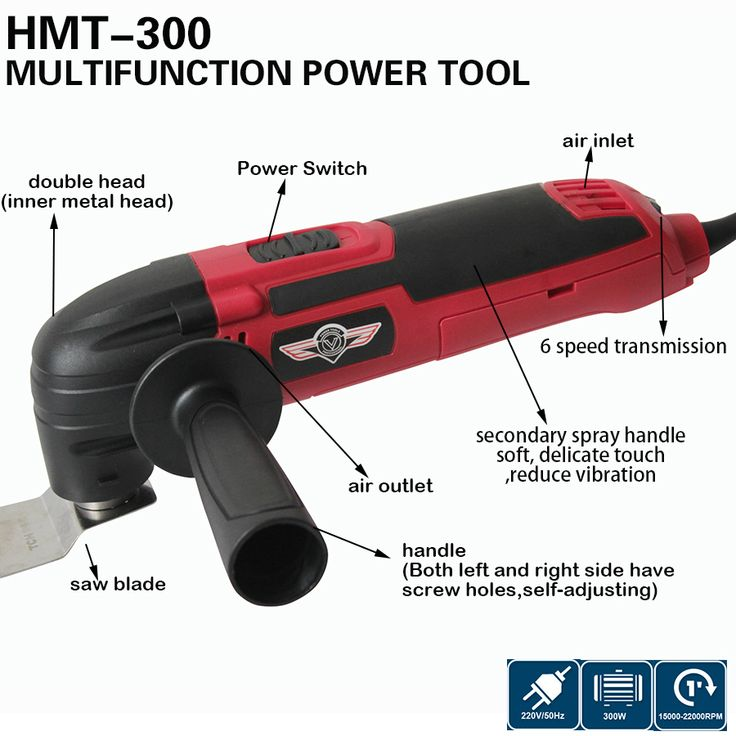 300W High Quality Power Tool Home DIY Renovator Tool Multi Master Oscillation Tool