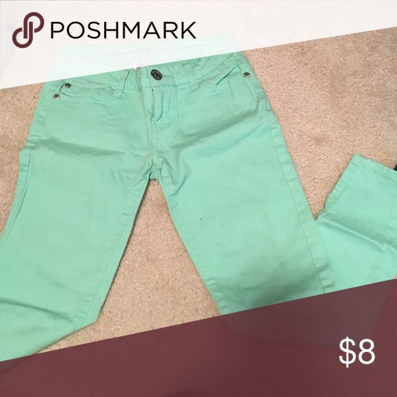 Turquoise pants Turquoise pants Pants Ankle & Cropped