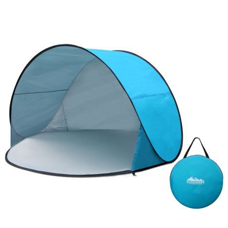 3 Person Pop Up Beach Tent Arch Sun Shade Shelter For Fishing Sport Picnic Portable UV And Water Resistant