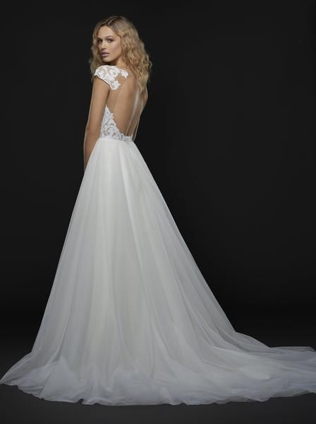 Blush by Hayley Paige Dakota 1753 Cap Sleeve Sequin Detail A-Line Wedding Dress