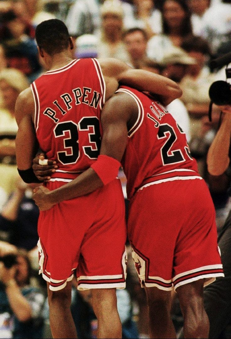 S.A.T. analogy:  Pippen / Jordan is like: 1) Batman and Robin 2) Sherlock Holmes and Watson 3) Carl Malone and that other guy 4) One of a kind dynamic duo. If you get this right, I won't dunk in your face. If you get this wrong, you get a consolation cinnamon cookie. <3