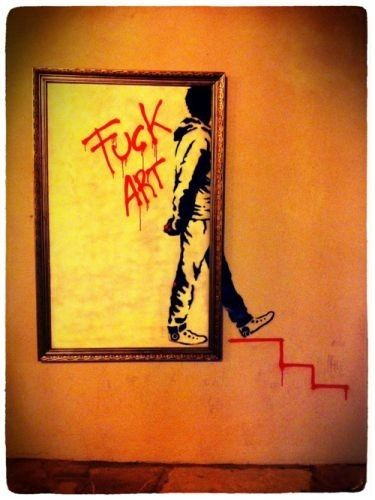 hey banksy!!! Awesome graffiti ♡