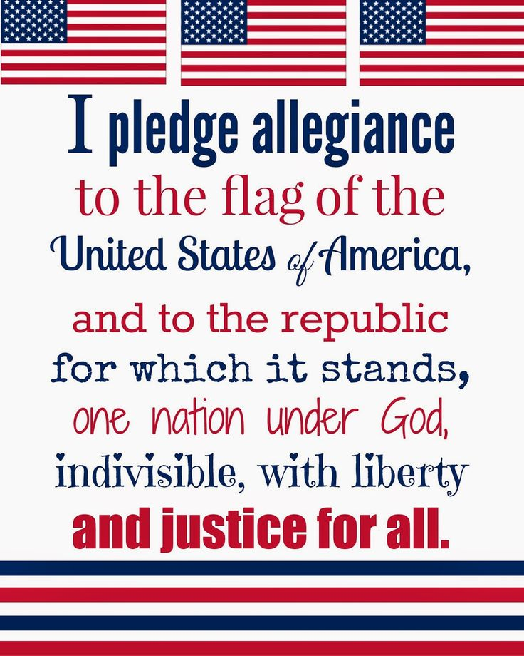 Free 4th of July Printables of the Pledge of Allegiance