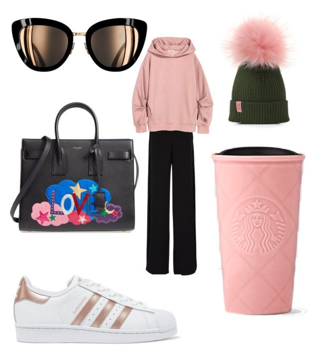"""""""Untitled #169"""" by jessicajessy on Polyvore featuring Rochas, adidas Originals and Yves Saint Laurent"""