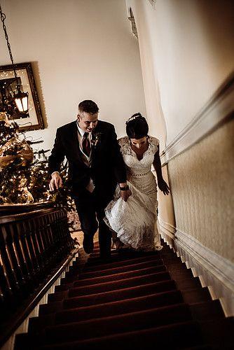moody victorian bride and groom