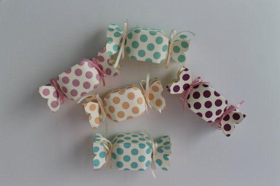 20 caramelle scatolina bomboniera confetti / candy favor boxes