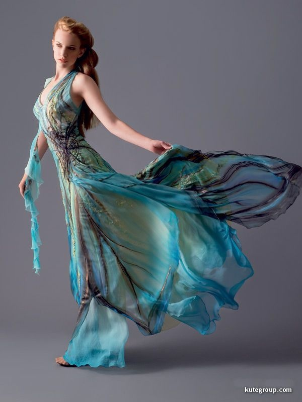 gorgeous...can I make this?  Hand painted silk and chiffon?  Mmmmmmm