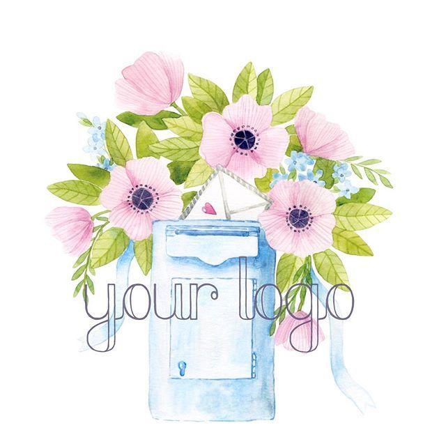 цветочный логотип с почтовым ящичком #logo_by_djonny