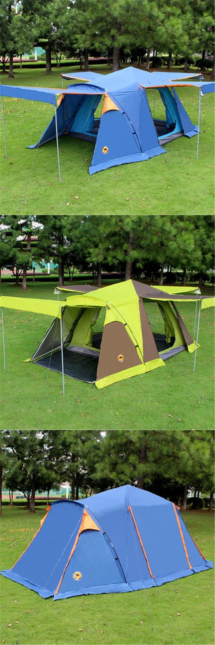 [Visit to Buy] Camel 3-4 person large family tent camping tent sun shelter gazebo beach tent for Advertising/exhibition #Advertisement