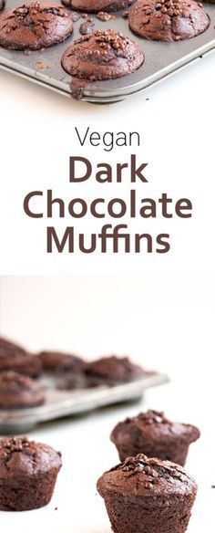 Dark Chocolate Vegan Muffins - A delicious chocolate muffin recipe that is sugar free and vegan. The perfect breakfast, dessert or snack for anyone.