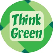 andre mahmoudian Think Green - POLITICAL BUTTON