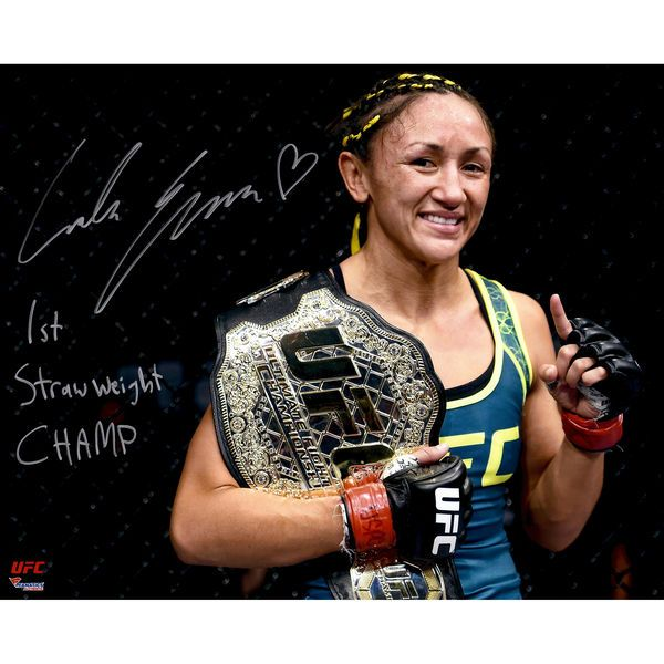 Carla Esparza Ultimate Fighting Championship Fanatics Authentic Autographed 16'' x 20'' Holding Championship Belt Photograph with 1st Women's Strawweight Championship Inscription - $59.99