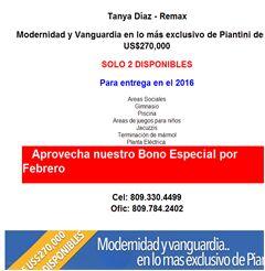 Modernidad y Vanguardia en lo más exclusivo de Piantini desde US$270,000 - Publicidad