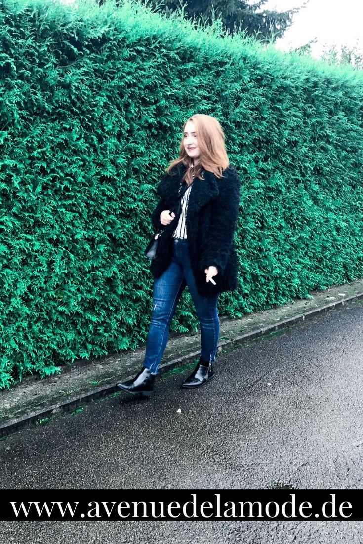 BLOGGED - Wochenrückblick #6 - Outfit der Woche, Blogger Tips und persönliche Gedanken zum Thema Zukunftsängste - Outfit mit Kunstpelzjacke und spitzen Stiefeletten