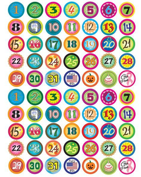 May Calendar Numbers Printable : Free printable calendar numbers christmas