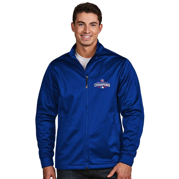 Men's Antigua Chicago Cubs 2016 World Series Champions Golf Jacket, Size: Medium, Dark Blue