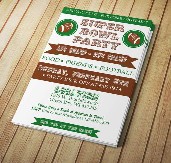 30 best Super Bowl Invitations Templates and More images on - ms word invitation templates