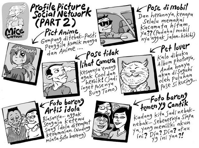 Mice Cartoon, Kompas Minggu: Profile Picture Social Network (Part 2)