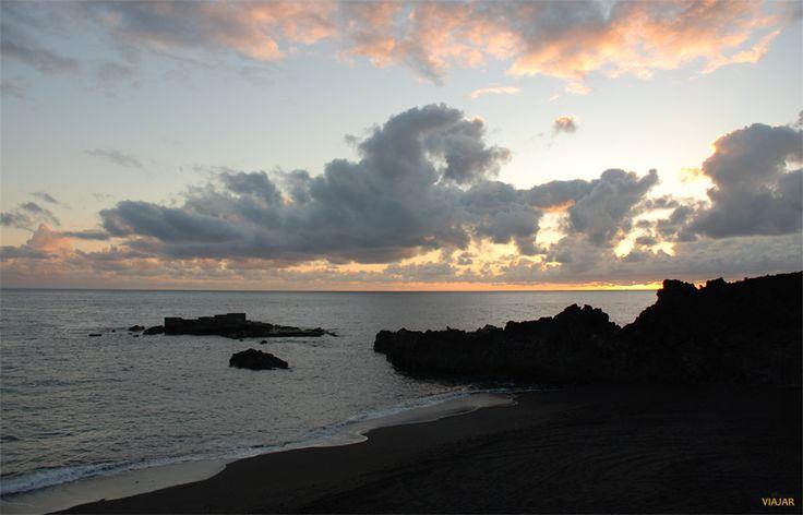 Amanece en la playa de Los Cancajos. La Palma