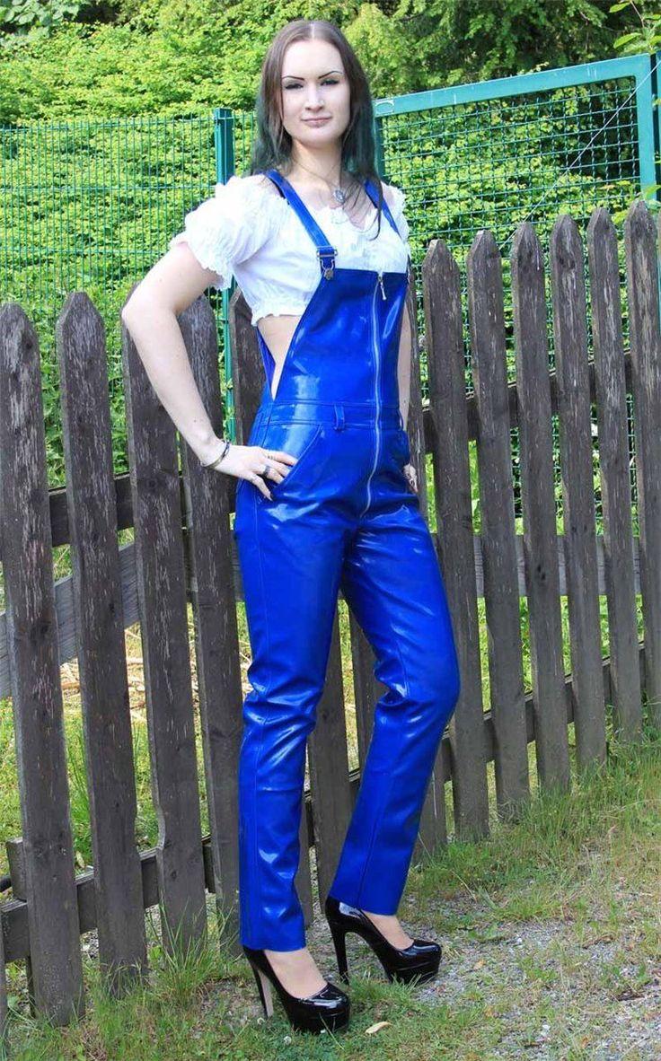 Lack-Latzhose Latz Hose Front-Zipper 122 b L 44 bib Overall Catsuit Regenhose | Kleidung & Accessoires, Damenmode, Hosen | eBay!