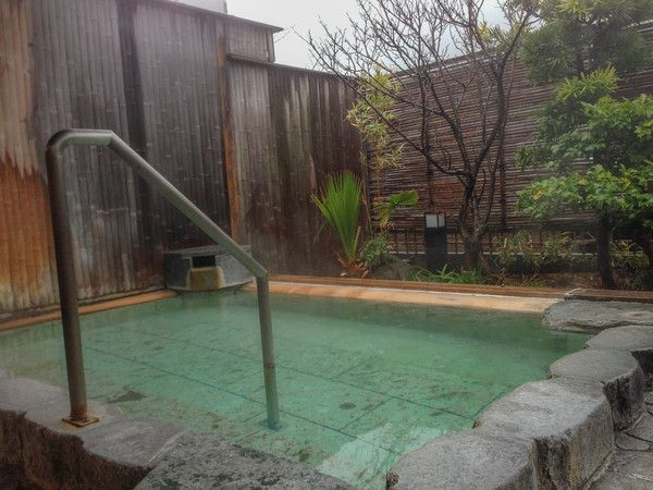"""Inside a traditional Japanese hot spring spa, called a """"onsen""""