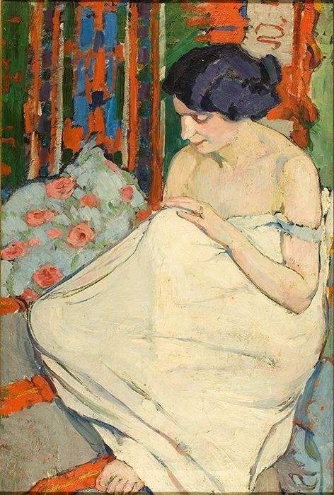 Елена Андреевна Киселева. Натурщица (этюд). 1911 г.