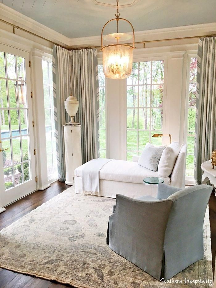 Gorgeous Serene Light Blue And Cream Sitting Room Off Bedroom In