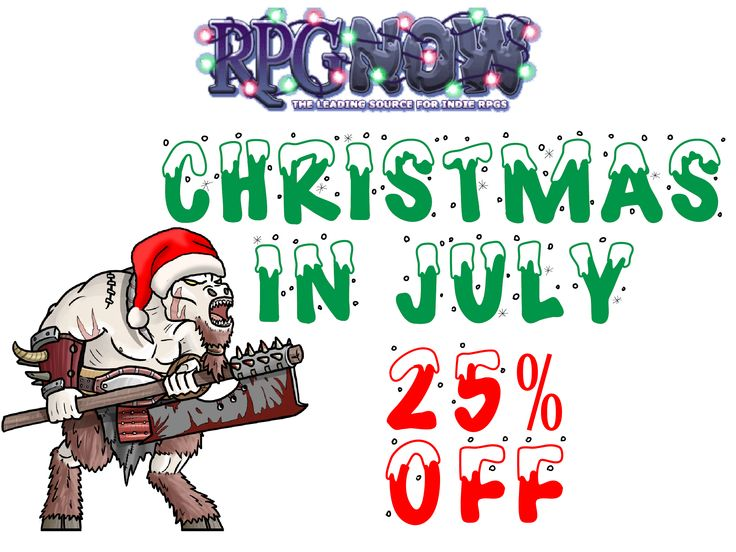 RPGNow Christmas In July Sale! - http://www.braveadventures.com/news/2015/07/25/rpgnow-christmas-july-sale/