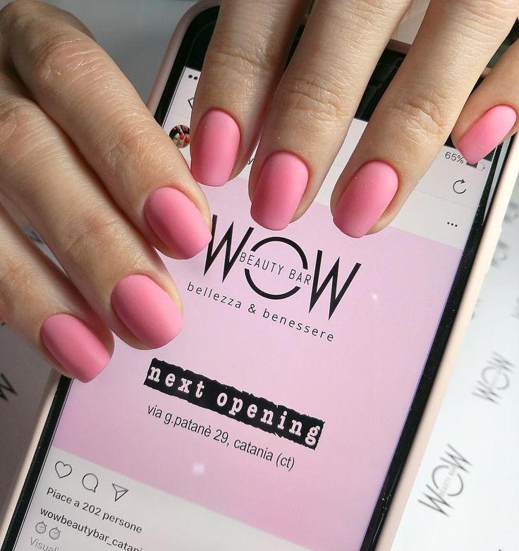 "Pink nails... WOW BEAUTY BAR (@wowbeautybar_catania) su Instagram: ""Summertime!!!! Sei pronta per le vacanze estive?  #unghie #unghierosa #unghieestive…"""