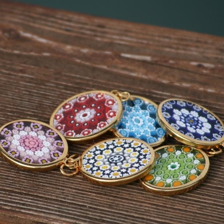 Gold Murrina - Murano Glass Jewellery Pendants #yourmurano #muranoglass