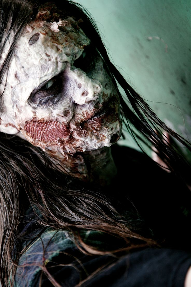 Because the world needs more beautiful long-haired boys in zombie makeup!