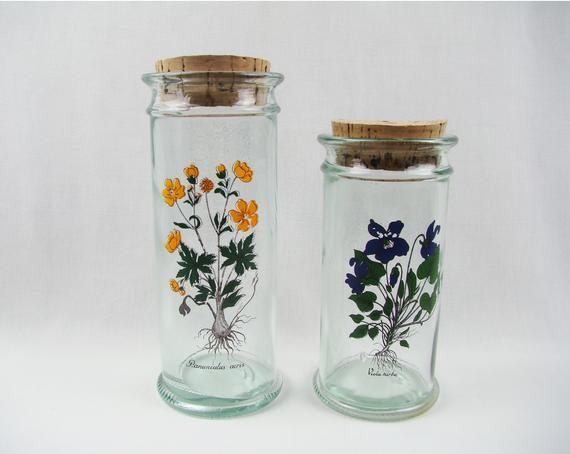 Glass Jars Old Apothecary Jars Herbalist Herbalism Decoration