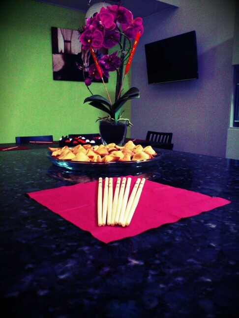 Fortune cookies and Chinese decoration by me!