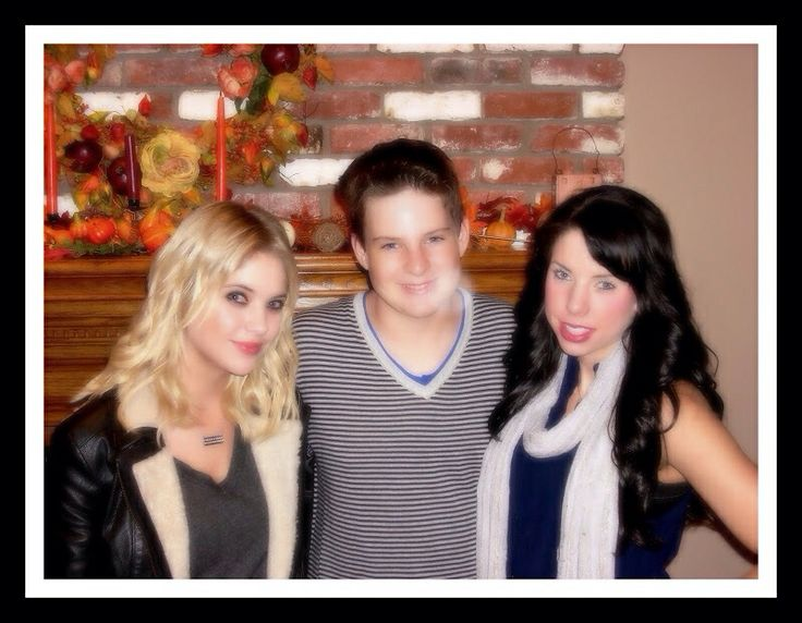 Mason with cousins Ashley & Shaylene Benson - Thanksgiving 2012.