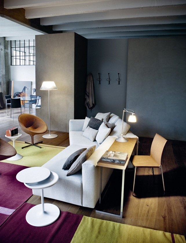 Divano Componibile Con Scrivania, Modular Sofa With Desk PARTY