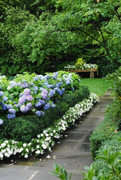 Beautiful Garden Design, Optical Illusions Balancing Yard Landscaping Ideas