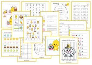 Paasbundel kleuters. Diverse leuke werkbladen en leermaterialen voor groep 1 en 2 rondom Pasen.