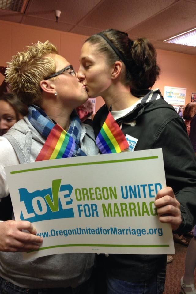 Oregon became the 18th State to legalize same-sex marriage today as Federal Judge Michael McShane ruled that the Oregon's 2004 voter-approved Constitutional Amendment banning same-sex marriage is unconstitutional.  Someday all the states!