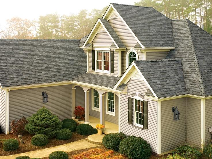 Castlewood Gray Gaf Designer Roof Shingles Home