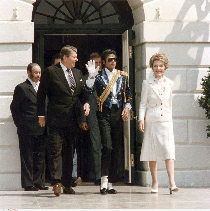 Michael Jackson and President & Mrs. Reagan