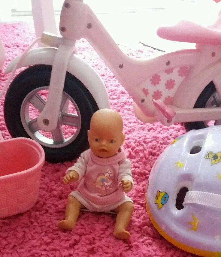 Baby Born Fahrrad mit zubehör mini Baby Born Puppe  in Spielzeug, Puppen & Zubehör, Babypuppen & Zubehör | eBay!