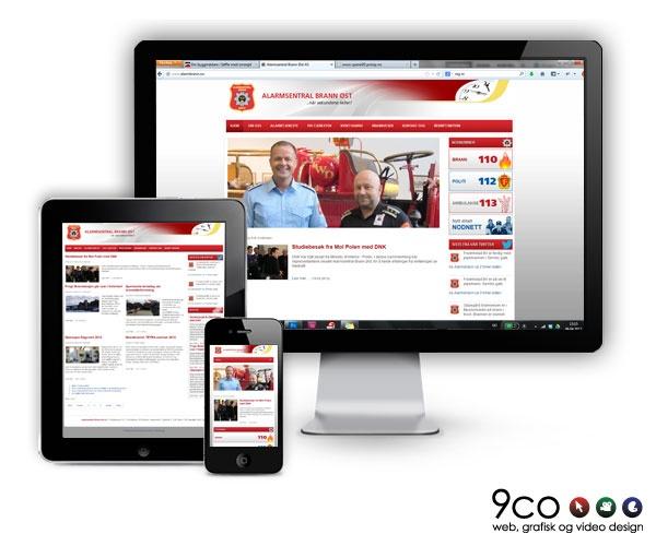 Ta en titt på den nye #mobil #responsive hjemmesiden vi har laget for Alarmsentralen Brann Øst AS www.alarmbrann.no #mobilresponsiv #responsivedesign #responsivewebdesign #webdesign