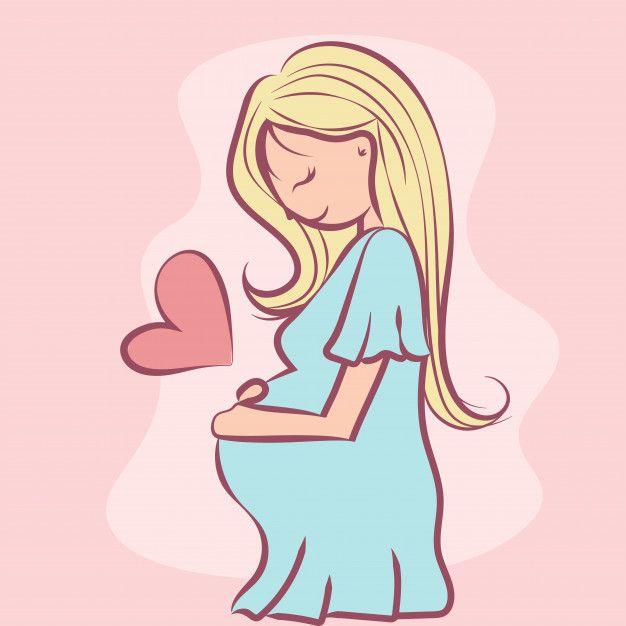 Мультяшная беременная девушка картинки