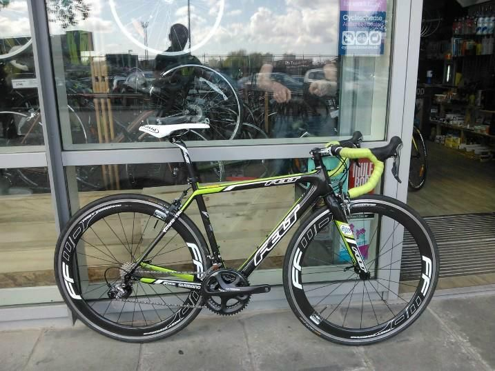 my new 2013 @LM Bicycles team issue race bike with FFWD F6s waiting for me back at @Matty Chuah Tri Shop in England!