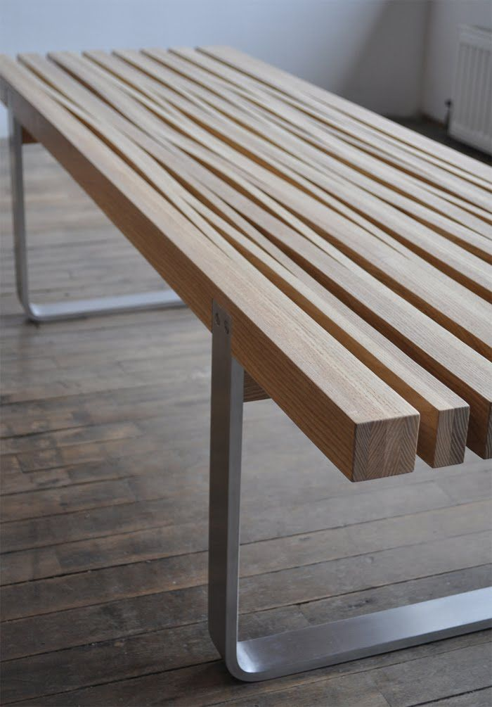 "Bench by John Booth, (the ""boo"") part of bookhou design"