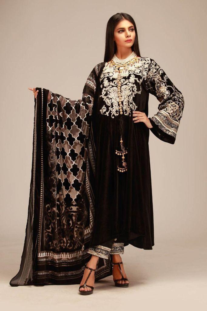dcd7da0337 Khaadi luxury velvet winter collection 2019 ideas for women ...