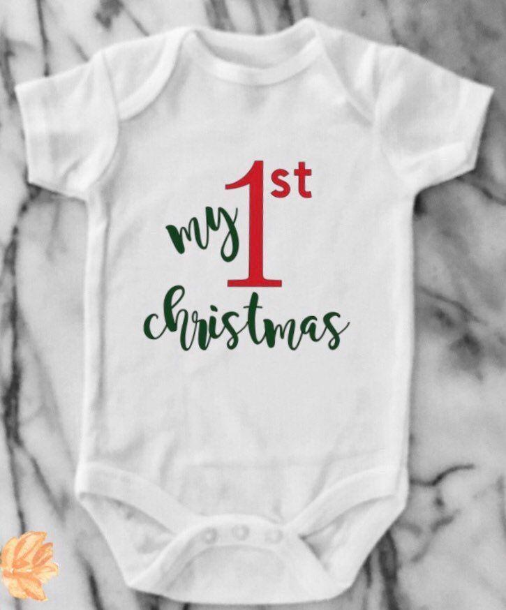 Baby First Christmas Onesie Baby Bodysuit Shower Gift Newborn Christmas Clothes